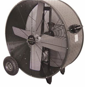 "36"" Heavy-Duty Belt Drive Drum Fan"